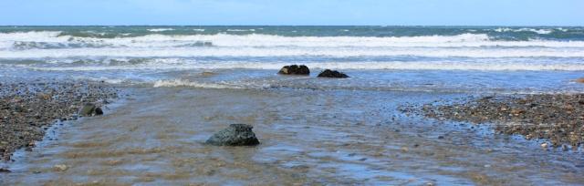 09 beach walking, Ruth on the Llyn Peninsula