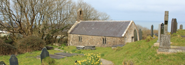 09 churchyard where Rupert Davies is buried, Ruth Livingstone, Wales