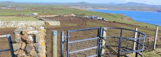 09 muddy fields, Llyn Peninsula, Ruth walking the coast in Wales