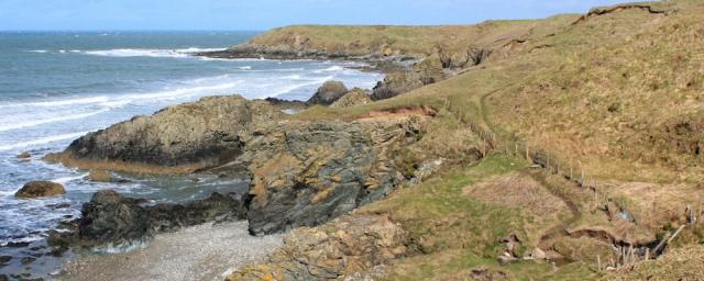 10 cliffs, north Llyn coast, Ruth walking