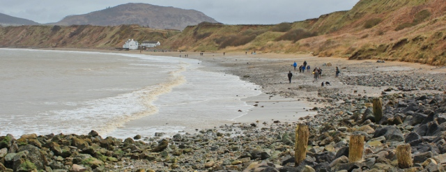 10 walking along the beach to Morfa Nefyn, Ruth Livingstone on the Wales Coast Path, Llyn