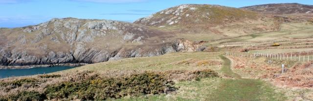 11 Mynydd y Gwyddel, Ruth walking the Llyn Peninsula