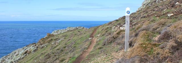 12 rugged path, Ruth walking the Llyn Peninsula, Mynydd y Gwyddel