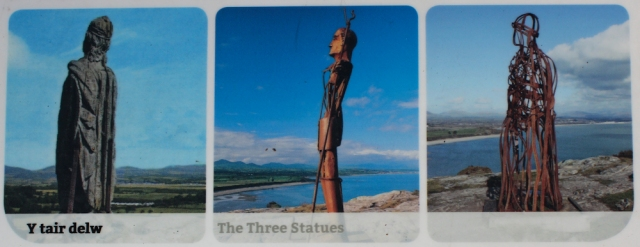 12 The three statues, Trywyn Llanbedrog, Ruth's coastal hike around Wales