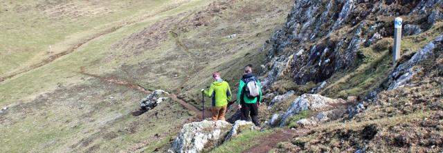 13 Mynydd y Gwyddel, Ruth hiking in Wales, Lleyn Coast Path