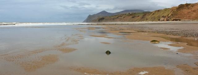 14 Beach at Nefyn, Ruth walking the Llyn Coast Path