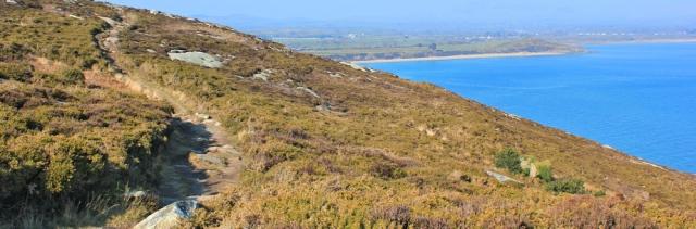 14 path across Mynydd Tir-y-cwmwd, Ruth's coastal walk, Wales