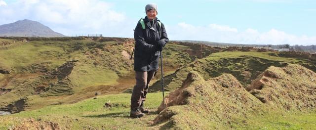 14 Ruth Livingstone, windy Llyn Peninsula