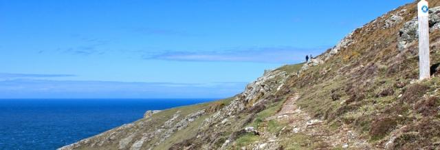 14 Ruth walking the Llyn Coast Path, Wales
