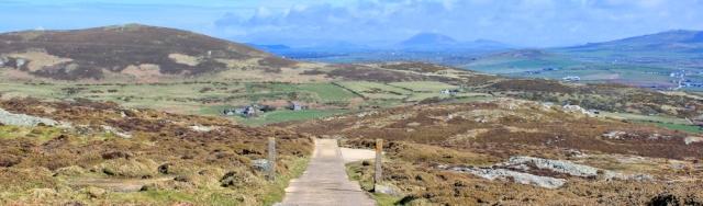 15 road at top of Mynydd Mawr, Ruth walking the Wales Coast Path, Llyn