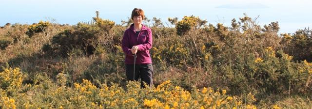 16 self portrait, Ruth Livingstone on Mynydd Tir-y-cwmwd, Llanbedrog