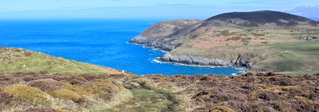 16 view from Mynydd Mawr, Ruth Livingstone on the Llyn Peninsula