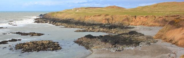 21 Borth Wen, Ruth walking the Llyn Coastal Path, Morfa Nefyn