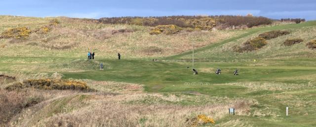 22 Nefyn Golf Club, Ruth Livingstone hiking in Wales