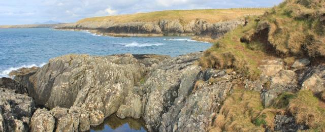 23 Porth Ferin, Ruth hiking the Wales Coast Path, west Llyn