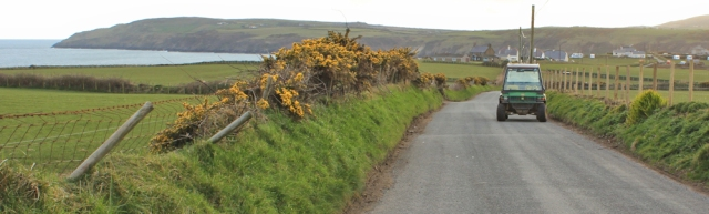 road walking into Aberdaron, Ruth's coast walk, Wales