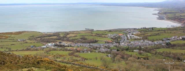 26 Trefor and Anglesey, Ruth hiking the Wales Coast Path
