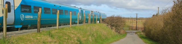 01 train to Rhosneigr, Ruth Livingstone's coastal walk