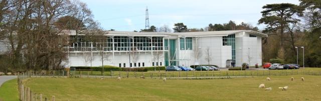 02 new buildings, Menai park, Ruth walking the Wales Coast Path