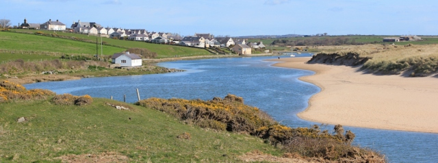 03 looking back to Aberffraw, Ruth's coastal walk, Anglesey