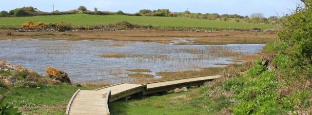 04 Ruth hiking the coast path, Anglesey, Holy Island