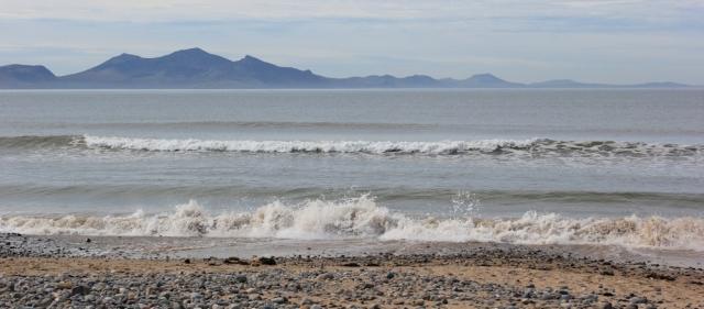 04 Traeth Llanddwyn beach, Ruth walking the Isle of Anglesey Coastal Path