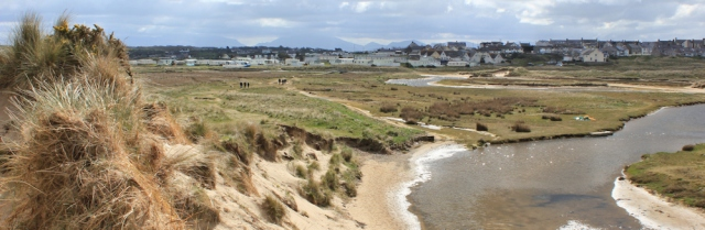 04 view back to Rhosneigr from sandunes, Ruth's coastal walk, Anglesey