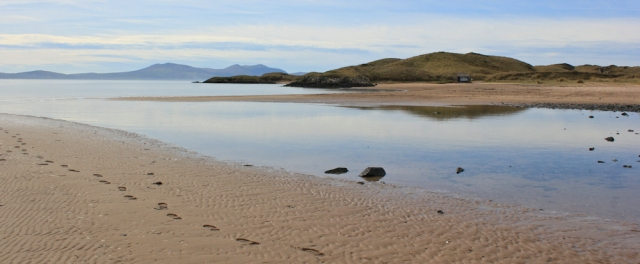 06 tidal island of Llanddwyn, Ruth walking the Welsh Coast, Anglesey