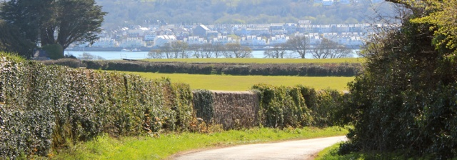 08 looking over to Y Felinheli from Anglesey, Ruth's coastal walk