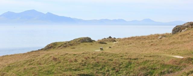 09 empty island, Ruth on Ynys Llanddwyn