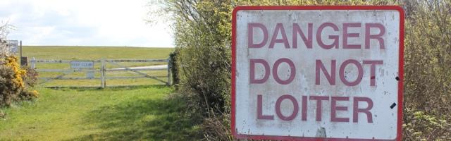 danger do not loiter, Valley Airfield, Ruth Livingstone