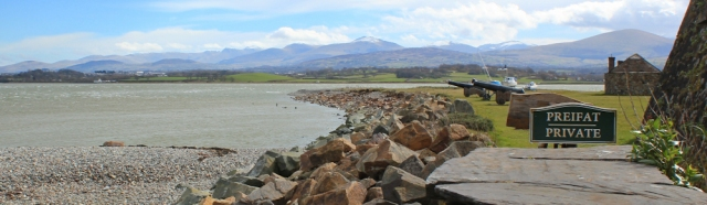 10 Fort Belan is private, Ruth in Snowdonia, Foryd Bay