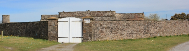 11 Fort Belan front door, Ruth walking the Welsh coast, Morfa Dinlle