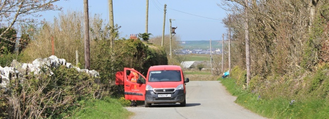 11 post office van, Ruth's coastal hike, Anglesey