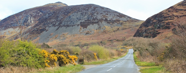 11 road out of Trefor, Ruth walking the coast, Wales