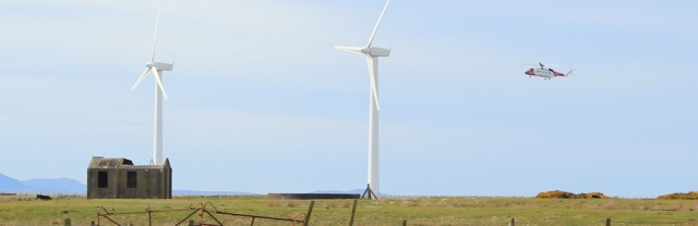 13 hovering helicoptor, Ruth's coastal walk, Caernarfon Airport