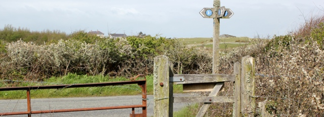 14 familiar sign, Ruth on the Isle of Anglesey Coast Path