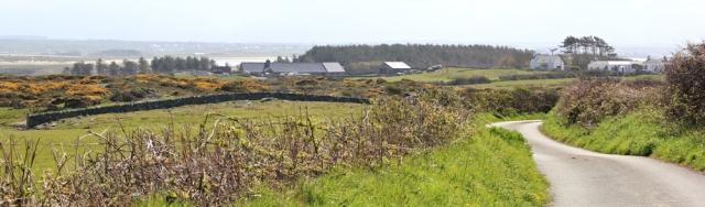16 walking towards Silver Bay, Ruth on the coast path, Ynys Gybi
