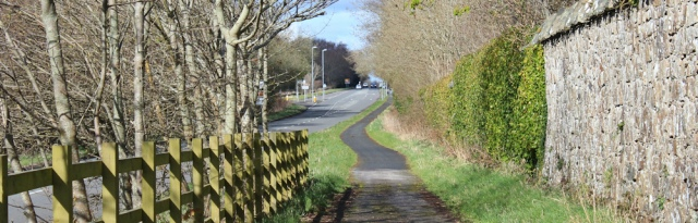 18 cycle path, Ruth's coastal walk, A499 near Caernarfon