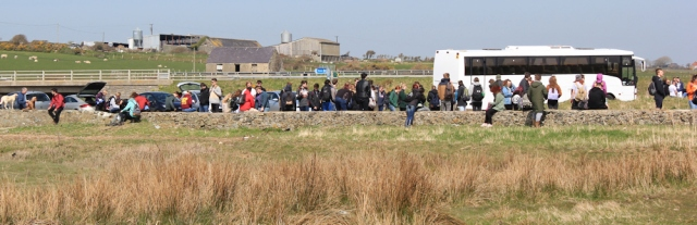 20 hordes of people, Aberffraw, Ruth's coastal walk, Wales