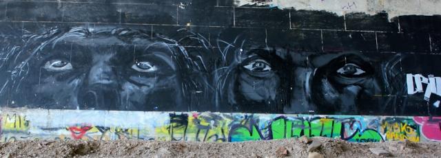23 graffiti under Pont Britannia, Ruth's coastal walk, Anglesey