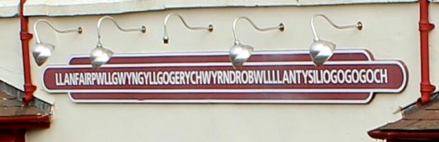 30 Llanfair Pwllgwyngyll sign, Ruth Livingstone