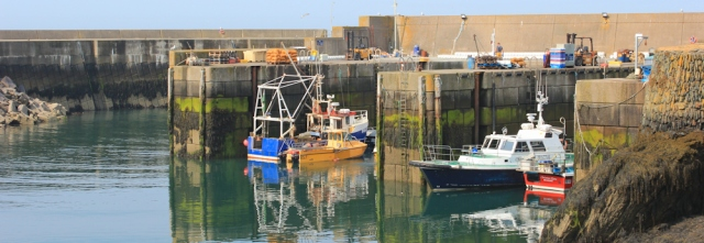 Amlwch Harbour, Ruth Livingstone on her coastal walk, Anglesey