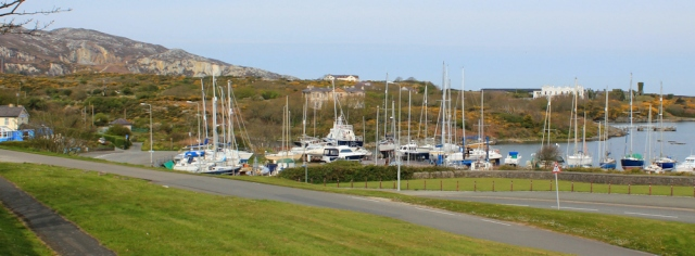 01 Holyhead Marina, Ruth walking the coastal path, Anglesey