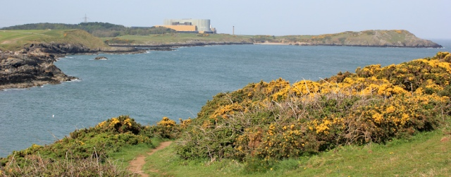 03 Wylfa Head from Trwyn y Parc, Ruth on the Isle of Anglesey Coast Path