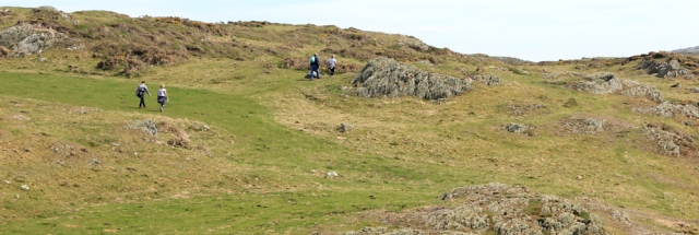 10 other walkers, hiking in North Anglesey, Ruth's coastal walk