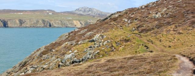 11 Abraham's Bosom, Ruth walking the coast, Holy Island