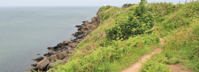 12 ruth hiking to Moelfre, Ruth's coastal walk
