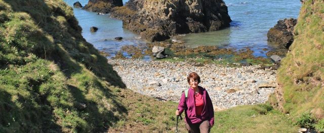 17 Ruth Livingstone hiking the coast, north Anglesey