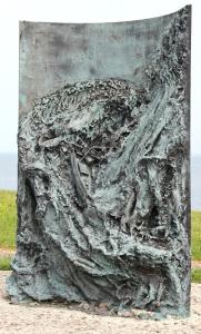 17b memorial sculpture, Ruth Livingstone, Moelfre